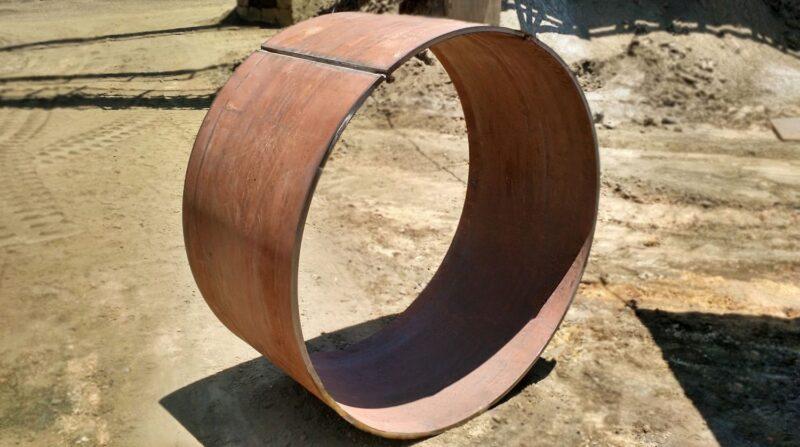 Anel Calandrado utilizado no interior do britador hp400 para proteção do equipamento. Anel Calandrado Fabricado em aço Hardox.